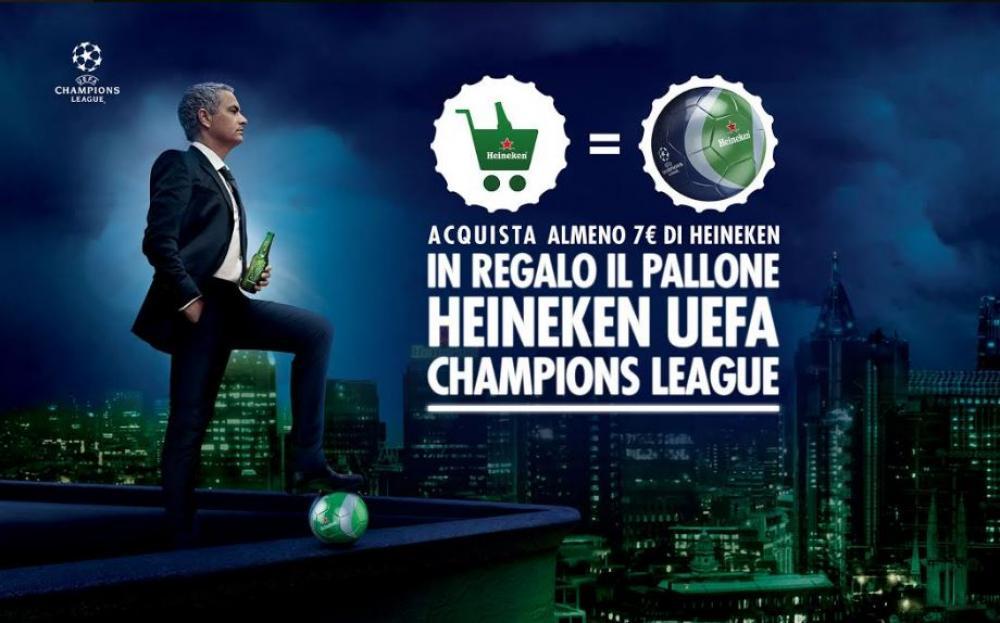 Heineken ti regala il pallone della Champions Leagu