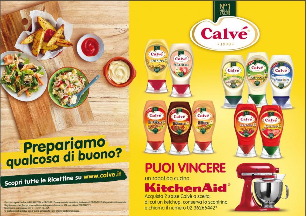 Con Calvé puoi vincere un robot da cucina KitchenAid