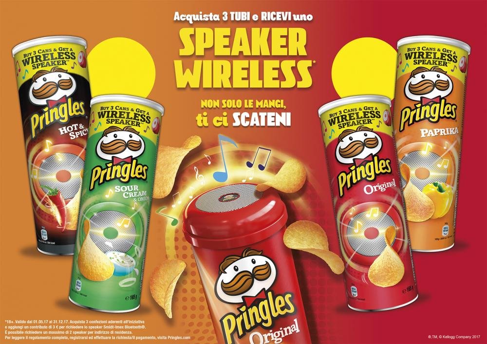 Pringles regala lo speaker wireless