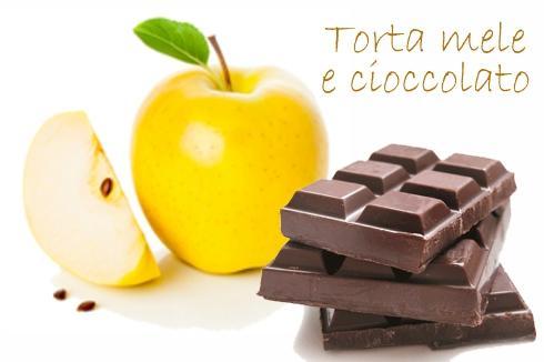 Ricetta della torta mele e cioccolato