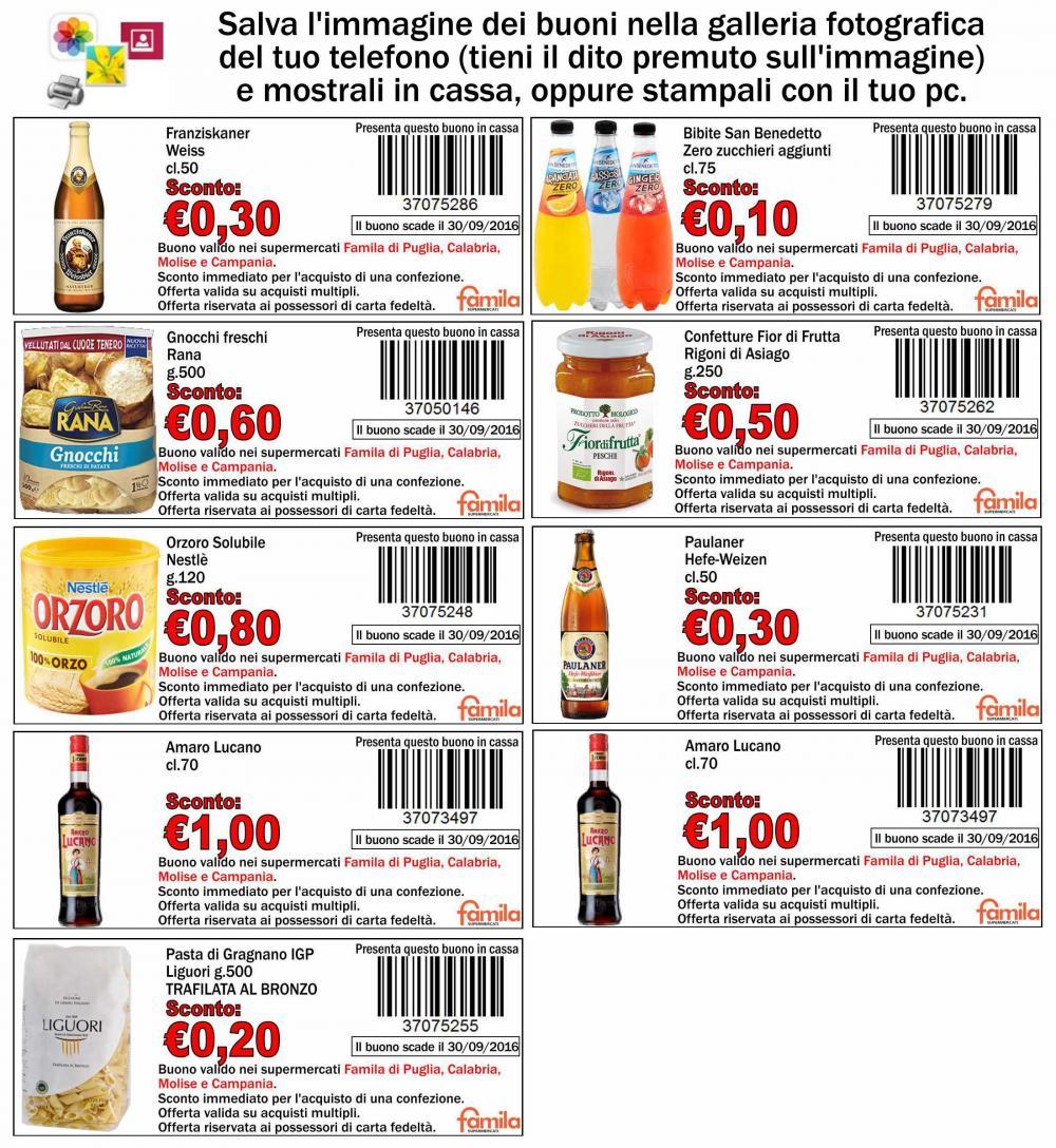 Buoni sconto spesa famila for Buoni coupon