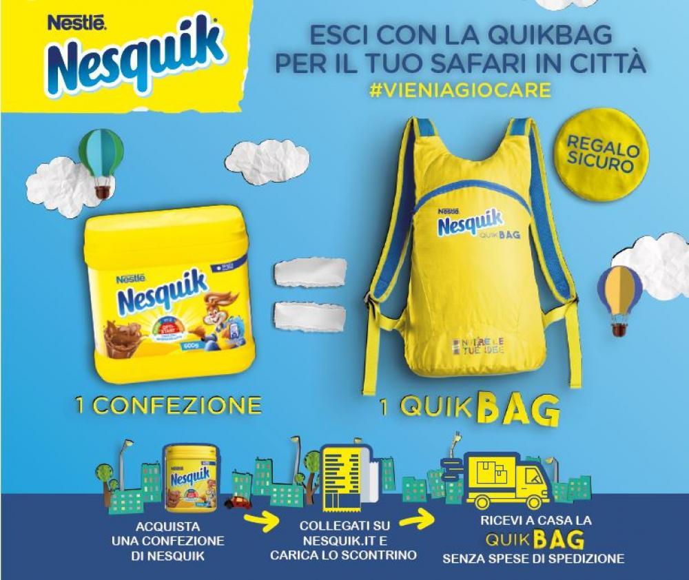 Nesquik ti regala la QuikBag