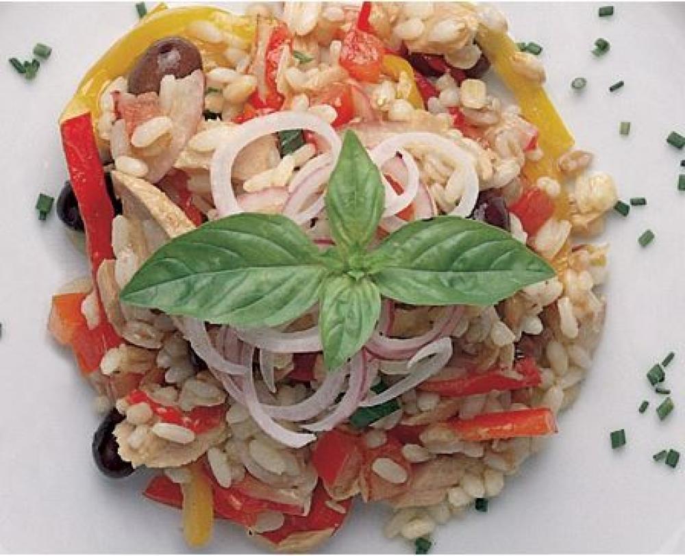 Insalata di riso ai tre cereali e tonno